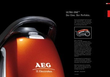 Ultra One Datenblatt - Electrolux