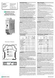 Betriebsanleitung Operating Instructions PEPPERL+FUCHS