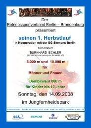 seinen 1. Herbstlauf - Betriebssportverband Berlin-Brandenburg ev