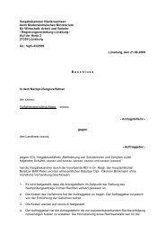 Vergabekammer Niedersachsen beim Niedersächsischen ...