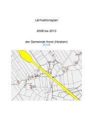 Lärmaktionsplan 2008 bis 2013 der Gemeinde Horst (Holstein)