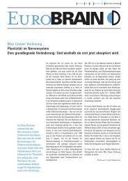 Plastizität im Nervensystem - Dana Foundation