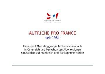 Autriche pro France – Präsentation – Mai 2013
