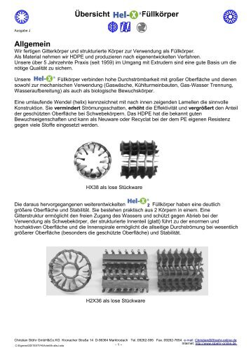 Download PDF - Hel-X by Stoehr GmbH & Co.KG