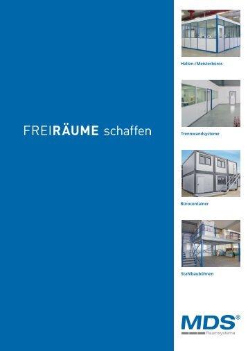Hallen-/Meisterbüros Trennwandsysteme Stahlbaubühnen ...