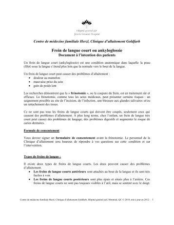 Ankyloglossie-doc pour patients 2012 - Hôpital général juif