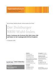 Landtagswahl NRW 2010 - Regierungsforschung.de
