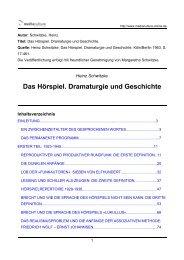 Das Hörspiel. Dramaturgie und Geschichte - Mediaculture online