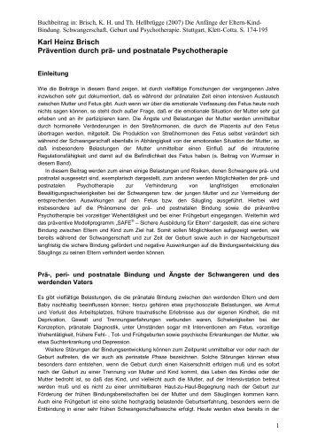 Prävention - PD Karl Heinz Brisch