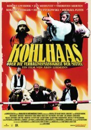 kohlhaas presseheft - missingFILMs