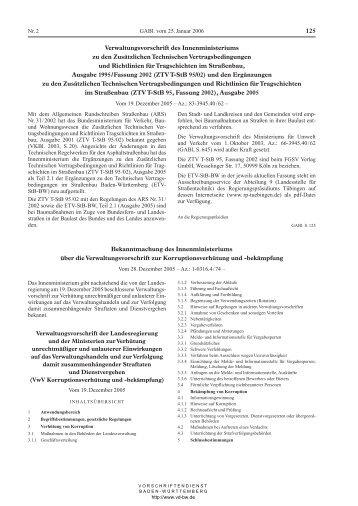 GABl. Ausgabe des VD-BW Verkündungsdienstes - an der ...