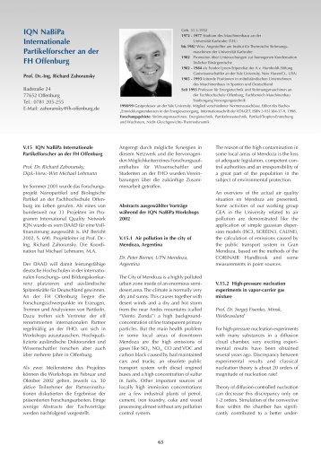 FH Offenburg 2003/5 - an der Hochschule Offenburg