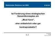 Stakeholder Relations bei KMU - Deutsches CSR-Forum