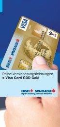 Reise-Versicherungsleistungen s Visa Card GÖD Gold - Sparkasse