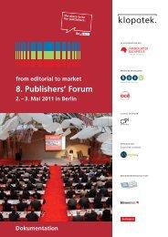 de - Publishers' Forum 2013