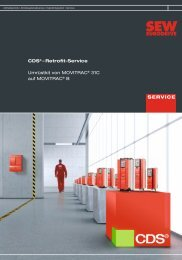 Retrofit-Service Umrüstkit von MOVITRAC® 31C ... - SEW Eurodrive