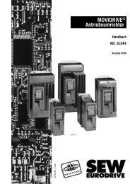 MOVIDRIVE® Antriebsumrichter Handbuch ... - SEW Eurodrive