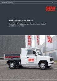 ELEKTROmobil in die Zukunft Innovative ... - SEW Eurodrive