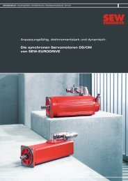 Synchrone Servomotoren DS/CM - SEW Eurodrive