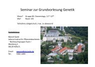 Seminar zur Grundvorlesung Genetik - OpenWetWare