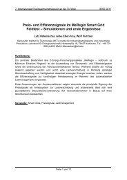 Preis- und Effizienzsignale im MeRegio Smart Grid Feldtest ... - EEG