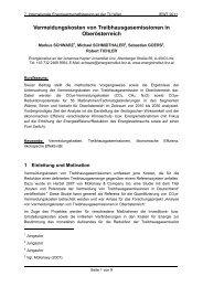 Vermeidungskosten von Treibhausgasemissionen in ... - EEG