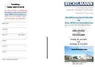 PROGRAMM - Dr. Wolf, Beckelmann & Partner GmbH