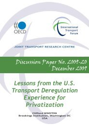 Lessons from the U.S. Transport Deregulation Experience for ...