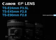 TS-E24mm F3.5L TS-E45mm F2.8 TS-E90mm F2.8