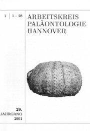 1-28 ARBEITSKREIS PALÄONTOLOGIE HANNOVER