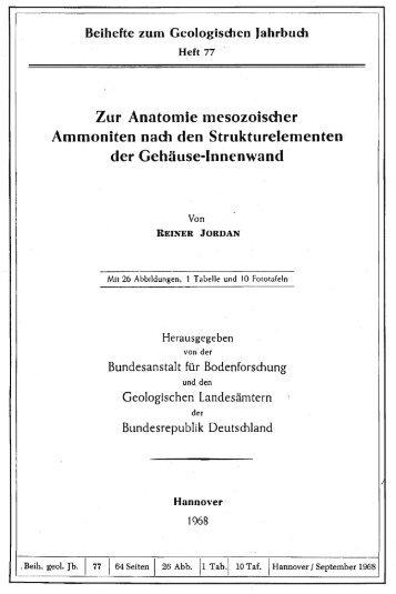 Zur Anatomie mesozoischer Ammoniten nach den ...