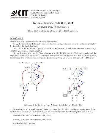 Formale Systeme, WS 2010/2011 Lösungen zum ¨Ubungsblatt 4
