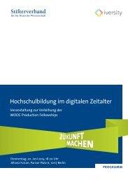 Hochschulbildung im digitalen Zeitalter - Stifterverband für die ...