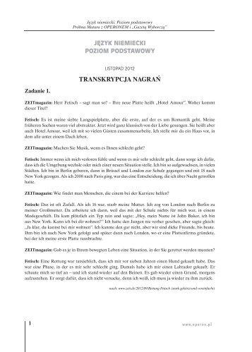 TRANSKRYPCJA NAGRAŃ - Gazeta.pl
