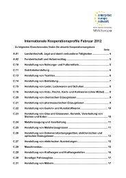Kooperationsgesuche Februar 2012 - NRW.Europa
