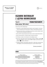 EGZAMIN MATURALNY Z JĘZYKA NIEMIECKIEGO - Gazeta.pl