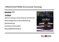 FRÖHLICH ELECTRONIC Environmental Technology - EMA