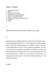Griechen in Albanien 1. Eigenbezeichnung Hellinos, Plural Hellines ...