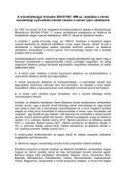 A művelődésügyi miniszter 859-8/1957. MM sz. utasítása a német ...