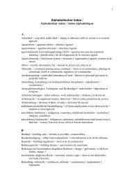 Alphabetischer Index / Alphabetical index / Index alphabétique A B