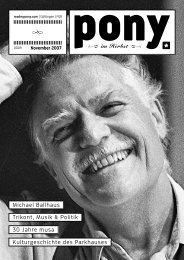 Michael Ballhaus Trikont, Musik & Politik 30 Jahre musa ... - Pony