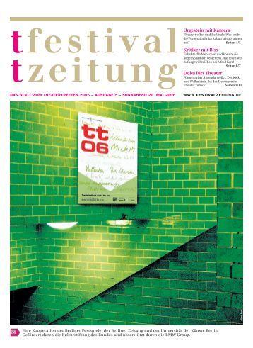 Ausgabe fünf - Berliner Festspiele