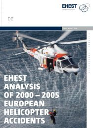 EHEST AnAlySiS of 2000 – 2005 EuropEAn HElicopTEr AccidEnTS