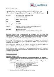 """Workshopreihe """"Strategien und Instrumente von Management und ..."""
