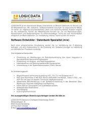 Software Entwickler / Datenbank Spezialist (m/w)
