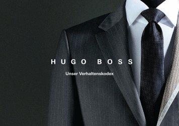 Unser Verhaltenskodex - HUGO BOSS AG
