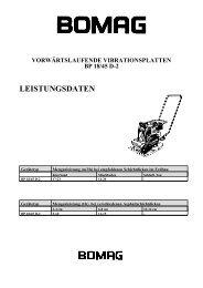 LEISTUNGSDATEN - Galabautechnik