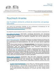 Factsheet Mental Health