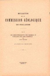 corfMISSION GEOLOGIQUE DE FINLANDE - Arkisto.gsf.fi