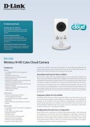 DCS-2132L Wireless N HD Cube Cloud Camera